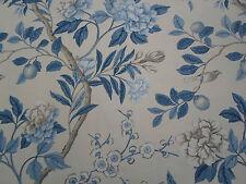 """Gp & J Baker Tela 'em peror's Garden """" 1.8 Metros (180 cm) blue/cream 100% Lino"""