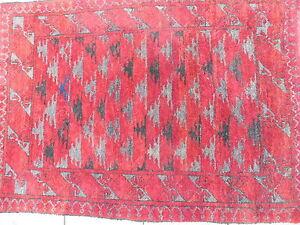 Belle, vieux Tapis D'Orient __ 106cm x 73cm __ Afghan
