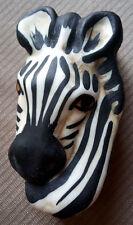 CAROL HALMY Hand Made Porcelain Zebra Head Trinket Jewelry Box Signed