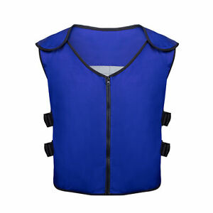 Cooling Vest 6 Pockets Outdoor Fishing Washable Men Women With Ice Bags One Size