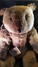 "Charleen Kinser T.R.'s Bear Cub 20"" tall (seated) Plush c1980's NWT"