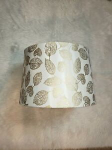 Silver Golden Fall Leaves Lamp Shade 10tall x 13wide