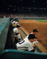 1960's Mickey Mantle New York Yankees Dugout Color 8 X 10 Photo Pic Free Ship