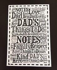 Papá WordArt Bloc de Notas Libreta Padres Día/Cumpleaños Navidad Regalo De Navidad