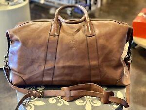 Ralph Lauren Polo Brown Leather Luxury Weekender Travel/Gym/Duffle Bag