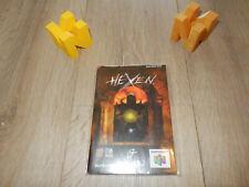 PAL N64: Hexen Manual Only EN - IT - ES NO GAME Nintendo 64