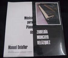 UNAM ZUBELDIA MANUEL DE LA FLOR MUSICA PARA PIANO SEALED MEXIC