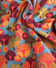 Autumn Forest Leaf Tree Stenzo Cotton Elastin Jersey Half Meter Harem Knit