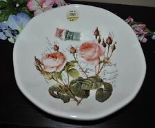 NEW EFFETTI d'Arte  ROSE  Pasta/Soup BOWL ITALY Handcrafted Postcard Stamps