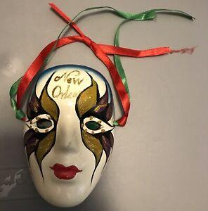 Venetian Mask Vintage Porcelain Mask Mardi Gras Hand Painted