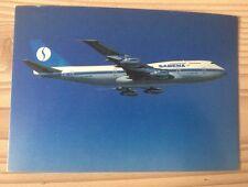 Sabena Belgian Airlines SN Boeing 747 B747 300 Jumbo Jet Postcard Postkarte TOP