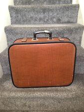 Vintage Leather Look fichier Suitcase Briefcase Weekend Travel Case DISPLAY STORAGE Prop