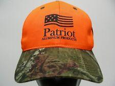 Patriote Aluminium Produits - Orange Vif & Camouflage Boule Réglable Chapeau