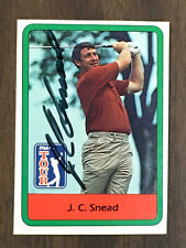 JC Snead 1982 Donruss Golf Card signed autographed
