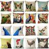 Butterfly ?? Peacock ?? Chicken Pillow Case Linen Sofa Cushion Cover Home Decor