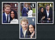 St Helena 2018 MNH Prince Harry & Meghan Royal Wedding 4v Set Royalty Stamps
