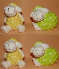 4  Deko Schafe aus Keramik 9 cm x 7 cm