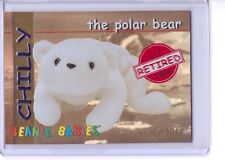 Ty S1 Rare Red Retired *Chilly the Polar Bear * Beanie Card Insert 4012