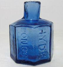 More details for copper-blue hyde / london octagonal ink bottle c1885