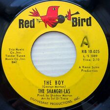 SHANGRI-LAS girl group orig. RED BIRD 45 THE BOY b/w OUT IN THE STREETS dm887