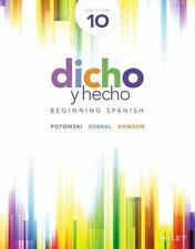 Dicho y hecho: Beginning Spanish (Spanish Edition) - Standalone book