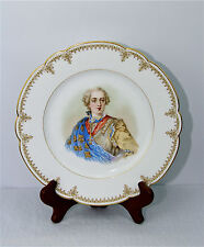 SEVRES 1846 WALL CABINET PLATE CHATEAU de VERSAILLES MUSEUM QUALITY PERFECT