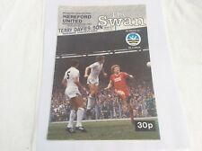 Swansea City v Hereford United Welsh Cup  February 1983