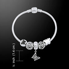 Butterfly .925 Sterling Silver Bead Bracelet by Peter Stone