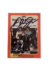 Dale Earnhardt Sr & Dale Jr NASCAR 1992 Mom N Pops Card Autographed Signed