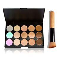 15 Farben Concealer Palette Kit mit Pinsel Make-up Creme Palettes