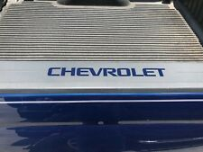 Colormatched Deep Ocean Blue Bed Rail Cap Decal Inserts For 2014-2018 Silverado