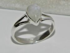 Sterling Silver (925) Moonstone Ladies Single Stone Ring size J