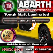 Fiat 500 ABARTH door sill decal vinyl stickers hard wearing protection 2007 on