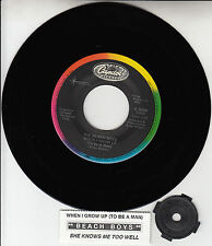 """THE BEACH BOYS  When I Grow Up To Be A Man 7"""" 45 rpm record + juke box strip NEW"""