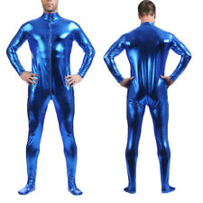 Metallic Lycra Full Body Zentai Suit Spandex Bodysuit Halloween Costume For Men