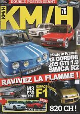 KM/H 76 R8 GORDINI 1300 SIMCA 1000 RALLYE 2 205 GTI 1.9 MATRA RENAULT ESPACE F1