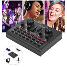 Audio Mixer Live Sound Card Voice Changer Metal Shell f Phone Computer Game W0K7