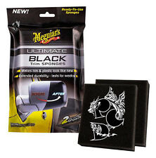 Meguiar's Ultimate Black Trim Reifenschwämme Kunststoffpflege Pad schwarz G15800