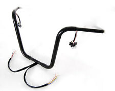 """18"""" RISE BLACK APE HANGERS HANDLEBARS WITH SWITCHES INTERNAL WIRING FIT HARLEY"""
