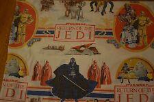 Vintage 1983 Star Wars Return of the Jedi Twin Flat Bed Sheet Jabba Ewoks Chewy