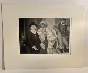 Rare Vintage 1979 Martha Casanave Signed 11X14 Vintage Curtain-TantAmount Theatr