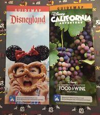 "Jan-March 2018 DISNEYLAND ""GET MORE HAPPY"" & ""DCA Food & Wine Fest"" Guide Maps"