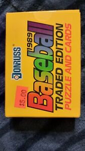 1989 DONRUSS BASEBALL TRADED EDITION COMPLETE SEALED 56 CARD SET