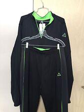 A87 by AERO Fashion Athletic Apparel Sportswear Black/Green Men's Jacket & Pants