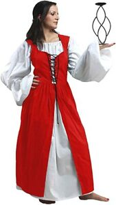 ThePirateDressing Medieval Renaissance Pirate Cosplay Costume Women Dress Gown