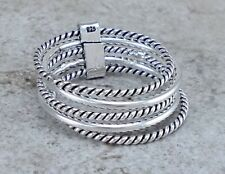 Stacked Ring size 9 style# r2413 Exotic 925 Sterling Silver 5 Band