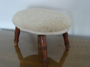 Antique Foot Stool ( Newly Reupholstered ) L39 X W29 X H20 cms. USED