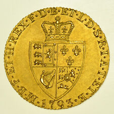 1793 guinée british gold coin de george iii ef