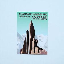 "Chamonix Mont Blanc COUTTET France 2""x3"" Retro vintage luggage label sticker"