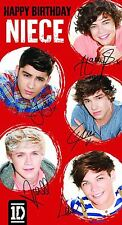 One Direction Niece Birthday Greeting Card Birthday Party Supply